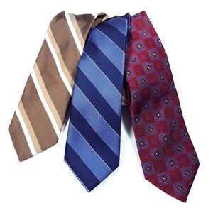 JOS. A. BANK Men's Plaid Silk Ties Set of 3